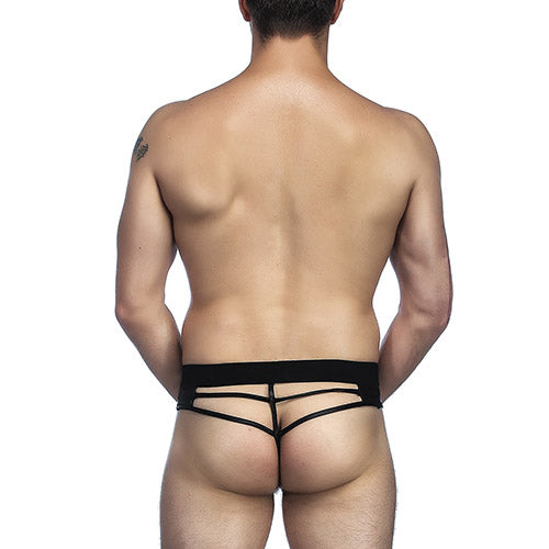 Leather Strappy Mens Thong