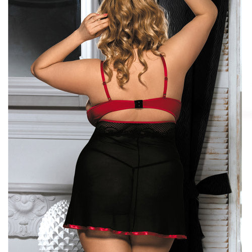 Romantic Lady Black & Red Chemise