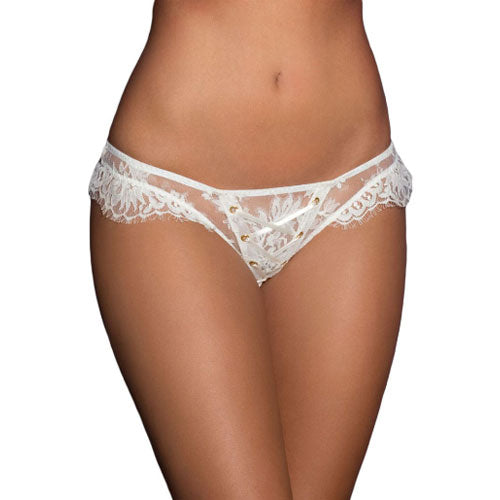 White Lace Bridal Panty