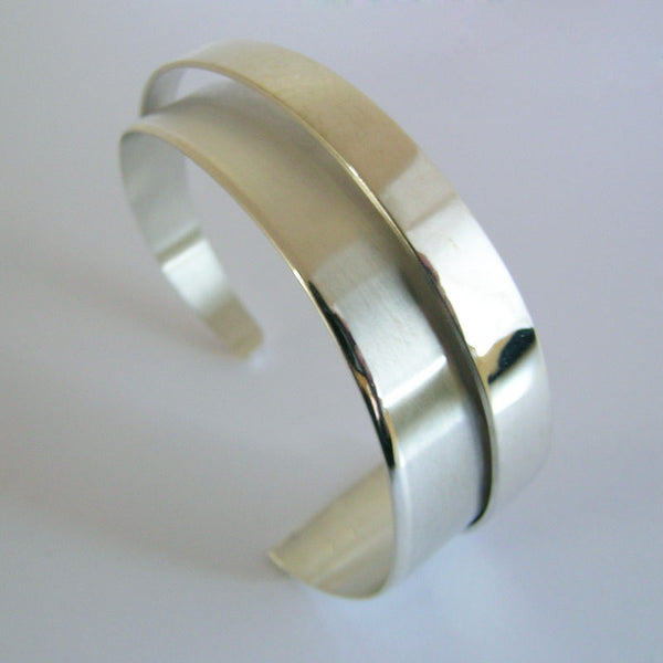 Narrow Sterling Silver High Wrap Cuff