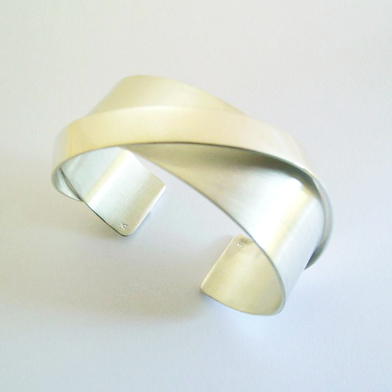 Sterling Silver Ribbon Cuff