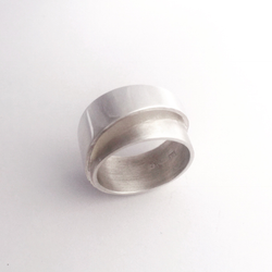 High wrap sterling silver ring
