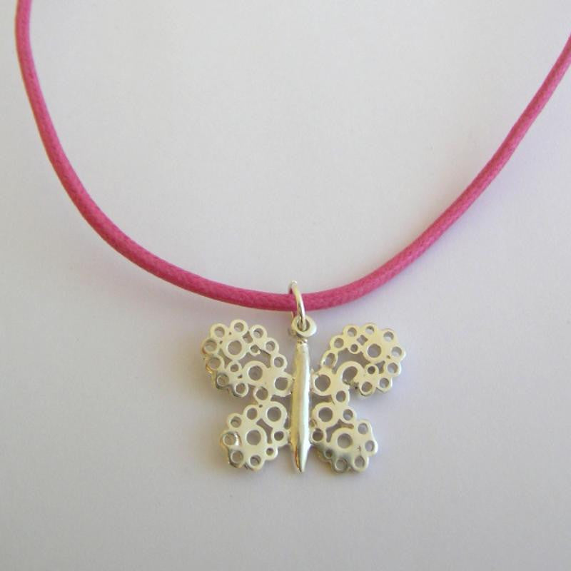 Pipsqueak Butterfly necklace - pink