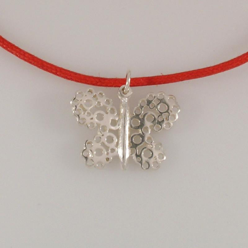 Pipsqueak Butterfly necklace - red