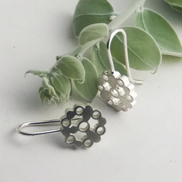 Circle of bubbles drop earrings