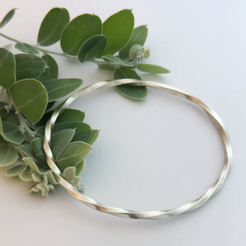 Sterling Silver Twist bangle