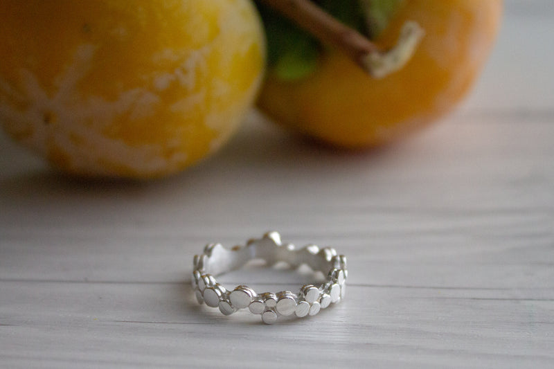 Silver Ring | Elegant Stepping stones ring