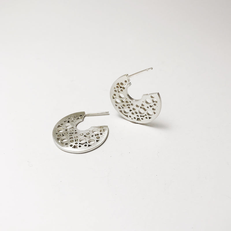 Small Sterling Silver hoopla earrings