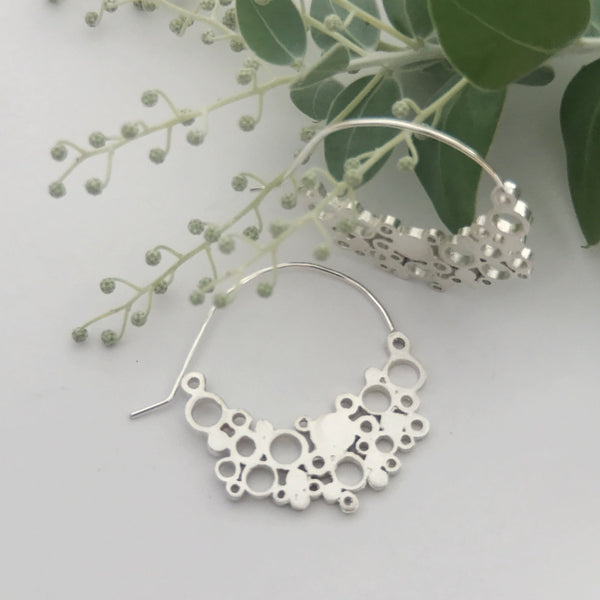 Large Sterling Silver Hoops | Extra Large holly moon