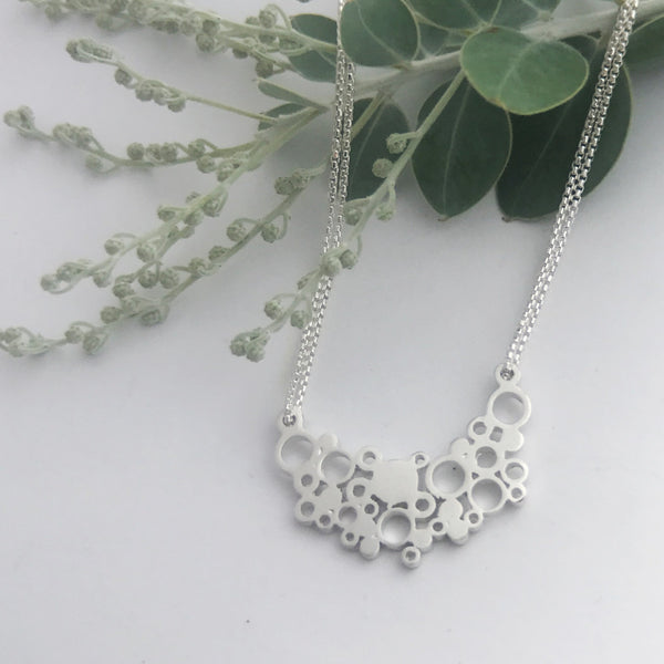 Sterling Silver extra large holly moon necklace