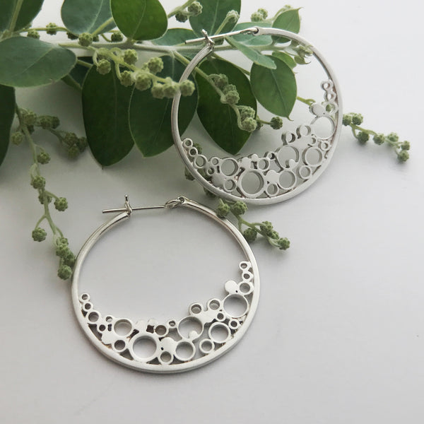 Large New Moon Hoop Earrings