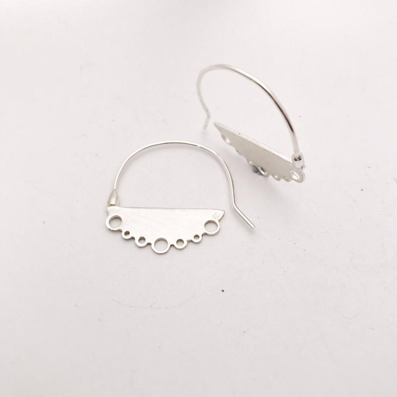 Large flat Sterling Silver cloud earrings