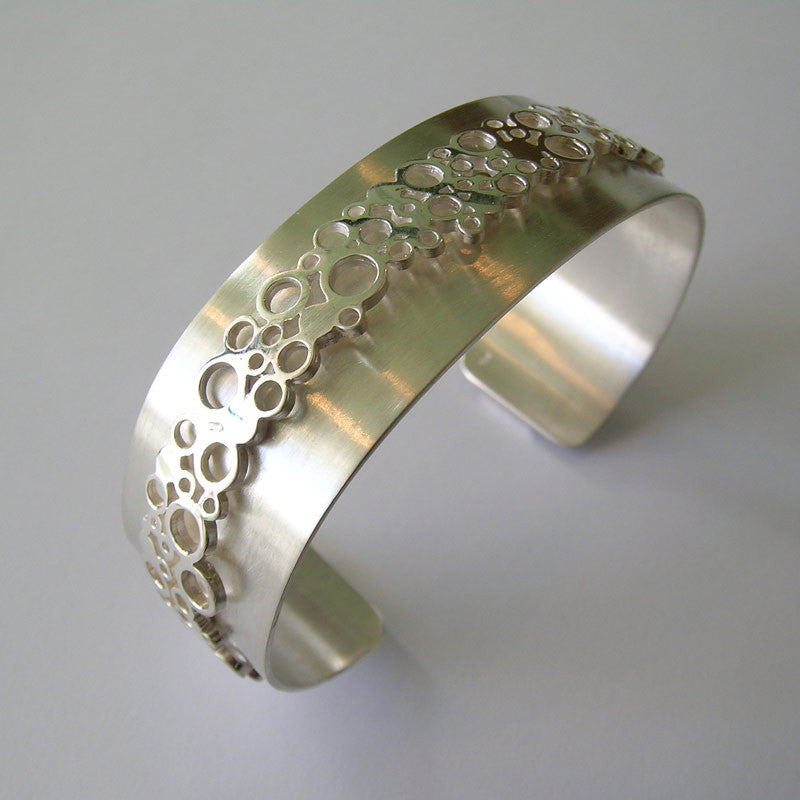 Bubble Along Silver Bangle