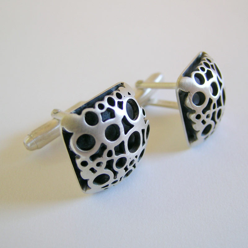 Square Flower Cufflinks