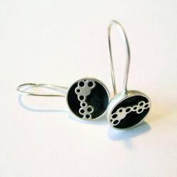 Bubble Along Sterling Silver Drop Earrings