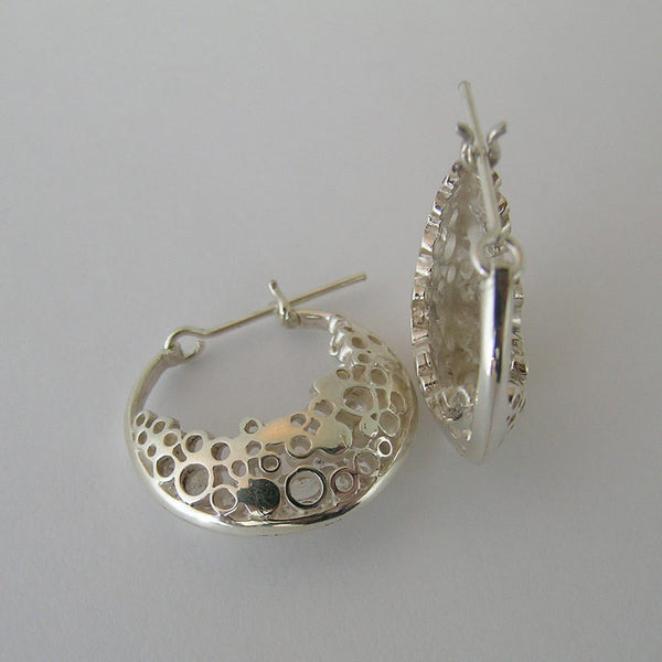 Pebble Road Hoop Earrings