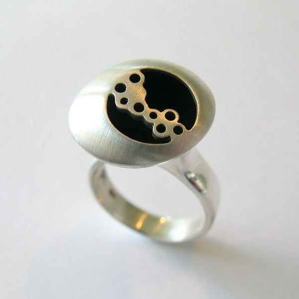 Bubble Along Sterling Silver Ring