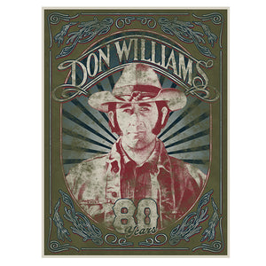 Don Williams 80 Years Poster