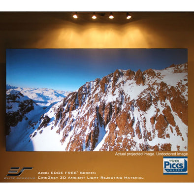 Elite Screens Aeon Cinegrey 3D 16:9 Fixed Frame Screen Edge Free Design