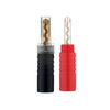 Inakustik Excellence BFA Banana Plugs 24k Gold 4MM - Plastic Barrel