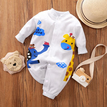 Load image into Gallery viewer, Newborn Baby Boy Clothing Organic Cotton Overalls Children New Born Girl Clothes Romper Infant Jumpsuit Dinosaur Costume Onesie