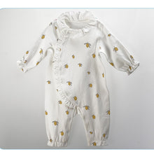 Load image into Gallery viewer, Baby Long Sleeved Vest and Romper Lemon Organic Cotton