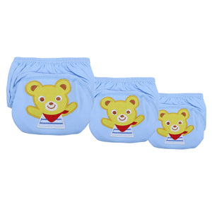 Cute Baby Diapers Reusable Nappies Cloth Diaper Washable Infants Children Baby Cotton Training Pants Panties Nappy - ecomumshop