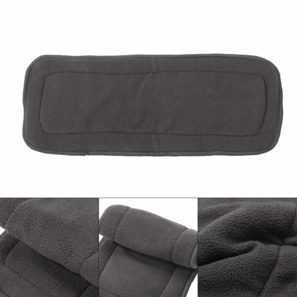 1Pc Reusable 4 Layers Bamboo Charcoal Insert Baby Cloth Diaper Nappy Use Washable Infant Nappy Changing Pad Liners Nappy Mat - ecomumshop