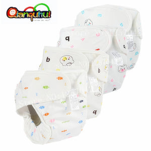 Pure Cotton Baby Reusable Nappies Diaper Waterproof Washable Cloth Diapers Cover Boy Girl Underwear Nappy Changing - ecomumshop