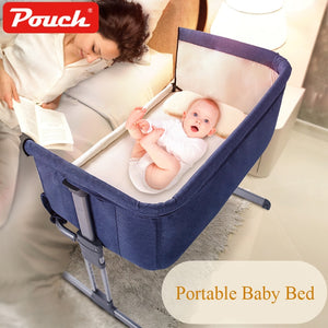 Hot baby crib Folding crib Travel bed Portable Convenience to take Quality material cloth Big space pouch cribs - ecomumshop