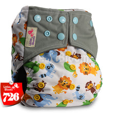Load image into Gallery viewer, BAMBOO CHARCOAL Washable Cloth Nappies Baby Diapers Washable Baby Pocket Nappy Cloth Reusable Diaper Cover Wrap - ecomumshop