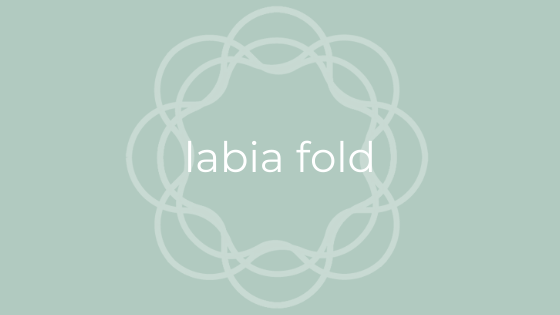 labia fold for menstrual cup use