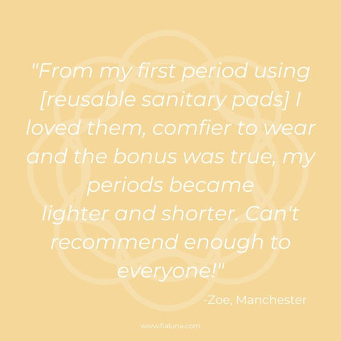 zoe reviews reusable sanitary pads