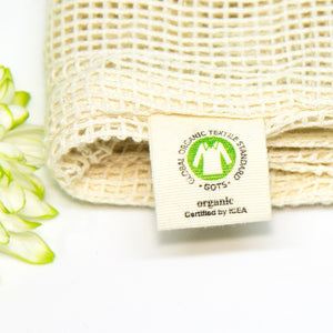 100% Organic Cotton Mesh Laundry Bag