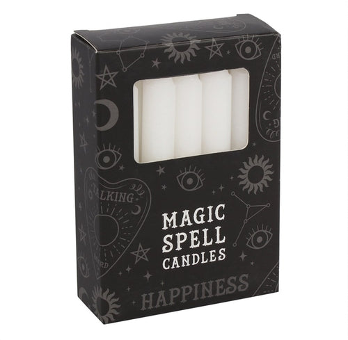 Pack of 12 White Spell Candles - Melluna_UK