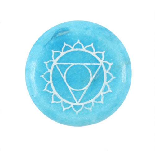 Throat Chakra Meditation Stone - Melluna_UK
