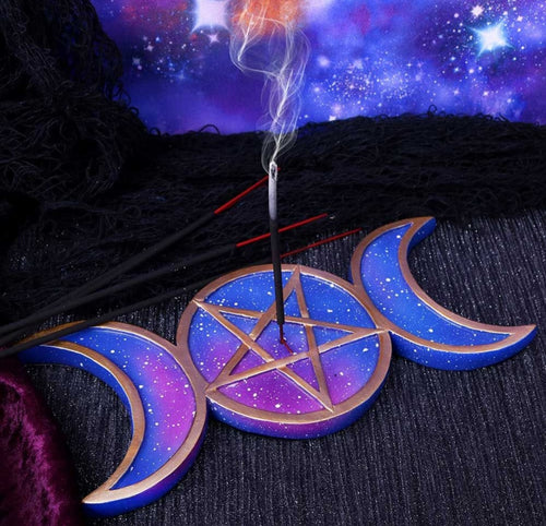 Triple Moon Incense Burner