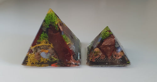 Earth Connection Orgonite Intention Pyramid