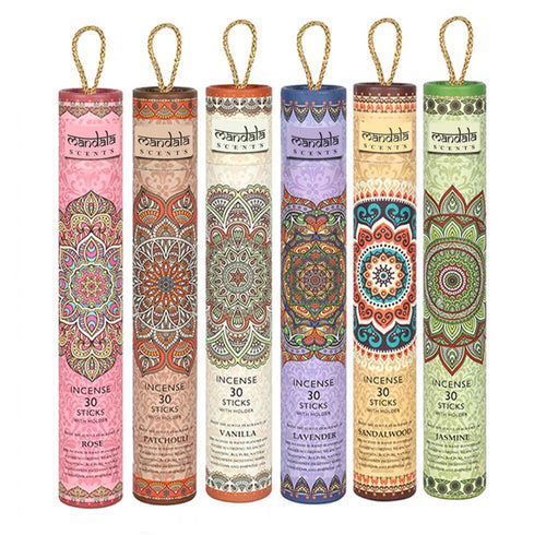 Mandala Incense Sticks in Tube with Holder