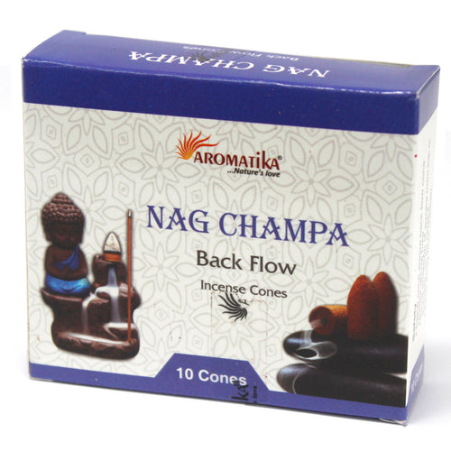 Nag Champa Back Flow Incense Cones - Melluna_UK