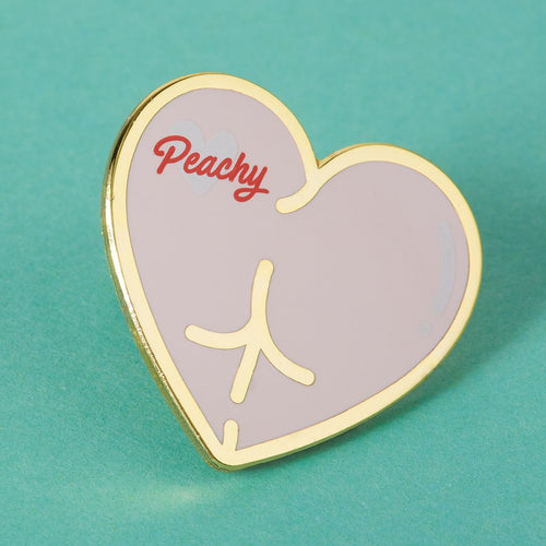 Punky Pins Peachy Bum Enamel Pin - Melluna_UK