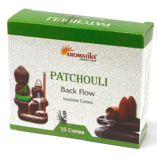 Patchouli Back Flow Incense Cones - Melluna_UK