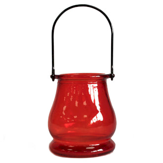 Recycled Red Candle Lantern