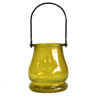 Recycled Yellow Candle Lantern