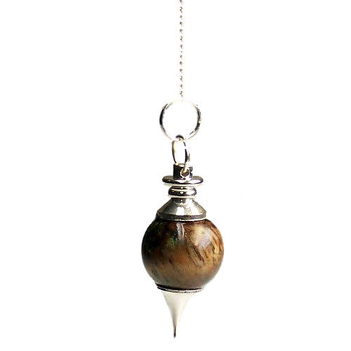 Tiger's Eye Sphere Pendulum - Melluna_UK