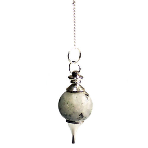 Rainbow Moonstone Sphere Pendulum - Melluna_UK