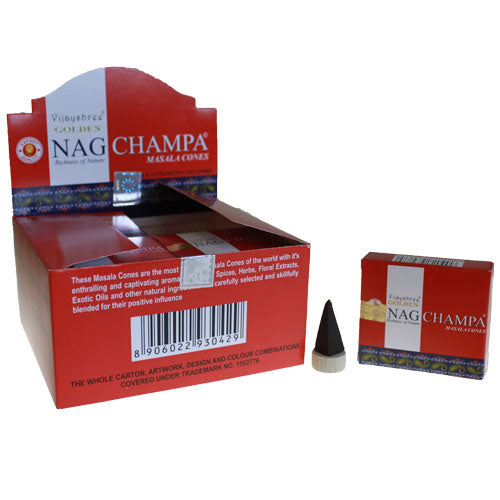 Golden Nag Champa Incense Cones