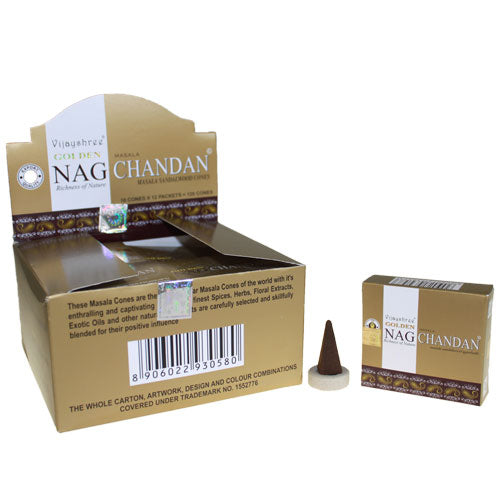 Golden Nag Chandan Incense Cones