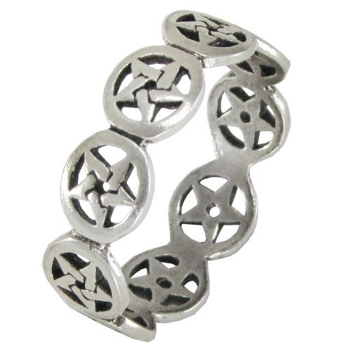 Pentagram Pentacle Ring - Melluna_UK
