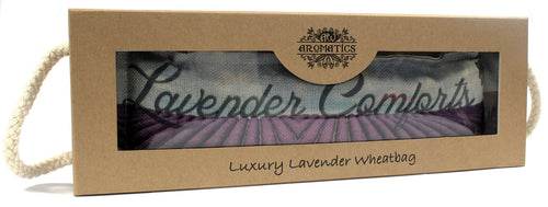 Luxury Lavender Wheat Bag in Gift Box